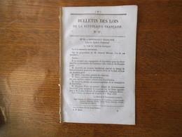 BULLETIN DES LOIS DE LA REPUBLIQUE FRANCAISE N° 6 DU 8 MARS 1848 GOUVERNEMENT PROVISOIRE 8 PAGES - Décrets & Lois