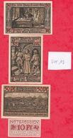 Allemagne 9 Notgeld Dans L 'état  (PORT GRATUIT POUR LA FRANCE) Lot N °6 - [ 3] 1918-1933 : Weimar Republic