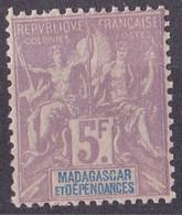 ⭐ Madagascar - YT N° 42 ** - Neuf Sans Charnière - 1896 / 1899 ⭐ - Unused Stamps