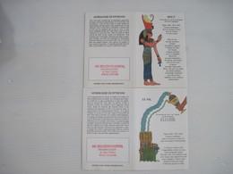 2 Petits Calendrier Astrologie EGYPTIENNE  PHARMACIE  Amiens  1994  T.B.E. - Calendarios