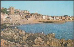 Westcotts Beach And St Ia Church, St Ives, Cornwall, C.1960s - Colourpicture Postcard - St.Ives