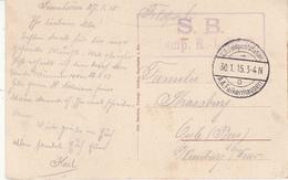 CP Obl K.D. Feldpoststation / D / A.A.Falkenhausen Du 30.1.15 + Cachet Komp R.I.R. 75 Pour OYLE - 1. Weltkrieg 1914-1918