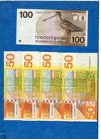 PAYS BAS -  Lot : 410 Gulden  ( 100 X 1 - 50 X 4 - 25 X2 - 10 X 6 ) 1968-1977- 1982 - 1989 -  Circulés  Voir Scans - Colecciones