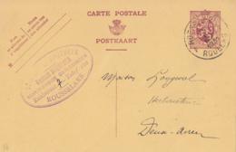 Belgique CP N° 96 I  Obl. De Roeselaere - Roulers Vers Deux-Acren - Postales [1909-34]