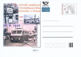 Rep. Ceca / Cart. Postali (Pre2011/37) 75 ° Anniversario Dell'inizio Del Traffico Di Filobus A Praga (1936) - Bus