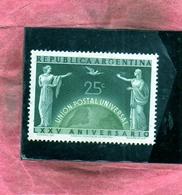 ARGENTINA 1949 UPU CENT. 25c MLH - Nuovi