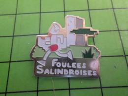 818b Pin's Pins / Rare Et De Belle Qualité / THEME SPORTS / ATHLETISME FOULEES SALINDROISES SALINDRES GARD - Gymnastics