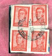 ARGENTINA 1959 1970 1965 JOSE DE SAN MARTIN 8p USATO USED OBLITERE' - Argentina
