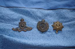Lot De Trois Bels Insignes Anglais A Voir Ww1 1914/1918 - 1914-18