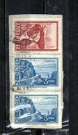 ARGENTINA 1959 1970 1960 CATAMARCA CUESTA DE ZAPATA SLOPE PESOS 3p + INCA BRIDGE MENDOZA PESOS 10p USATO USED OBLITERE' - Argentina
