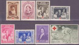 Belgium 1939 Mi 497-504   MH* - Belgique