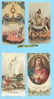 Santino Immagine Sacra Santini S.sacramento Madonna Del Carmine La Resurrezione Sacro Cuore  (vedi Retro 4 Santini) - Religione & Esoterismo
