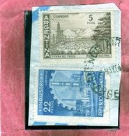 ARGENTINA 1959 1970 1962 INDUSTRY PESOS 22p TIERRA DEL FUEGO 5p USATO USED OBLITERE' - Argentina
