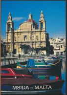 °°° 11405 - MALTA - MSIDA CHURCH - 1994 With Stamps °°° - Malta