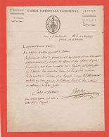 1795 Révolution  L.A.S. Adjudant Général Vanloo Garde Nationale Parisienne Paris Jolie Vignette An 4 - Documents Historiques