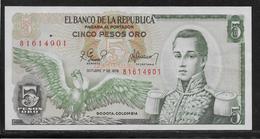 Colombie - 5 Pesos  - Pick N° 406 - SUP - Colombia