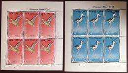 New Zealand 1959 Health Birds Minisheets MNH - Vogels