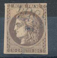 N°47 NUANCE ET OBLITERATION - 1870 Bordeaux Printing