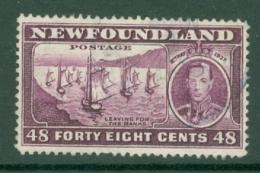 Newfoundland: 1937   Coronation Issue  SG267   48c  [Perf: 14.1]   Used - Newfoundland