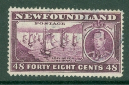 Newfoundland: 1937   Coronation Issue  SG267   48c  [Perf: 14.1]   Used - 1908-1947