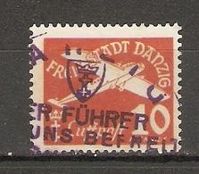 """Allemagne, Dantzig - PA10 P Vermillon - Avec Cachet  """"Der Führer Hat Uns Befreit"""" - Dantzig"""