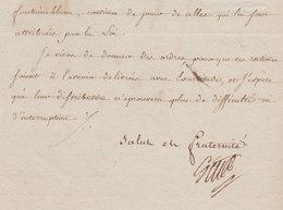 1796 Révolution  L.A.S. Claude Louis Petiet Ministre De La Guerre à Paris Jolie Vignette An 4 - Documents Historiques
