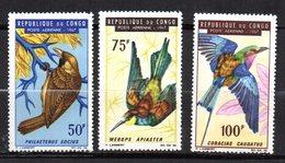 Congo  N° 47 à 49 Neuf XX  MNH  Oiseaux  Cote 8 € - Neufs