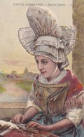 Postcard Coiffes Normandes Dans Le Calvados Lace Making ? Folklore Costume My Ref  B12413 - Costumes
