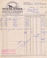 1962: Factuur Van ## N.V. Producten WAESLANDIA, Frans Van Havermaatstraat, 29, St.-NIKLAAS ## Aan ## M. Firmin COVENT, - Levensmiddelen