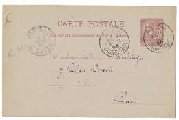 MONACO - ENTIER POSTAL CARTE POSTALE 10c BRUN Type ALBERT 1er OBLITÉRATION CAD 1896 Pour PARIS - Interi Postali