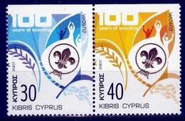Cyprus Europa Cept 2007 Type Do  Paar  Postfris M.n.h. - Europa-CEPT