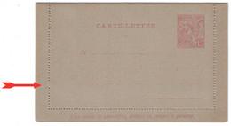 MONACO - BELLE VARIÉTÉ (10eme PIQURE MANQUE À GAUCHE) Sur TB ENTIER POSTAL CARTE-LETTRE 15c ROSE-CARMIN Type ALBERT 1er - Ganzsachen