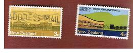 NUOVA ZELANDA (NEW ZEALAND) - SG 997.998  -  1973  CENTENARIES   -  USED° - Nouvelle-Zélande