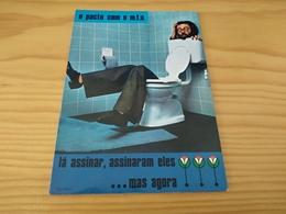 "Portuguese Postcard, ""MFA Man Sitting In Pot"" , Portugal - Satirical"