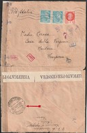 France Lettre Censurée ,arrivée A Menton (italie ) 24 02 1943 Rare - Postmark Collection (Covers)