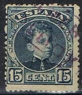 Sello 15 Cts Alfonso XII, Carteria II ALBOX (Almeria), Num 244 º - Usados