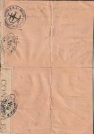 France Marque De Franchise FFI Gironde Avec Censure Afrique Du Nord Rare - Postmark Collection (Covers)