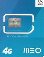 MEO - Altice - Mini/Micro/Nano SIM Card 4G - (NOT USED) - Portugal - Portugal