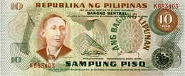 PHILIPPINES 10 PISO (PESOS) ND (1984) P-161d UNC RED S/N [PH1020d] - Philippines