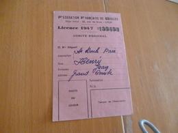 Licence 1947 Fédération Française De Boules Gard La Grand Combe - Bowls - Pétanque