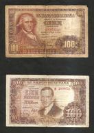 SPAIN / SPAGNA - El BANCO De ESPANA - 100 Pesetas (1948 & 1953) Lot Of 2 Different Banknotes - [ 3] 1936-1975 : Regime Di Franco