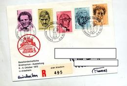 Lettre Recommandee Arlesheim Exposition Balabra Sur Serie Savant - Marcophilie