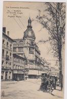 CPA  B31 NANCY La Tourelle D'angle Des Magasins Réunis-hôtel De L'est-TRAM-station Calèches-PUBS.. - Nancy