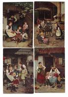 SERIE 4 FIGURINE PUBBLICITARIE  CIBILS   CALENDRIER 1893 - Cromo