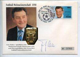 POSTCARD STAMP BUSTA FRANCOBOLLO FROTZ WALTER FIFA MEDAL CAMPIONNATH DU MONNDE FOOTBALL WORLD CHAMPIONSHIP 1954 - Germania