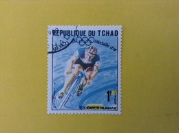 1968 CIAD TCHAD FRANCOBOLLO USATO STAMP USED SPORT CICLISMO OLIMPIADI MESSICO 1 - Ciad (1960-...)