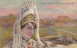 Postcard Coiffes Normandes Pays De Caux Folklore Costume My Ref  B12418 - Costumes