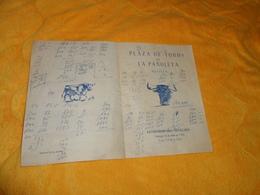 PUBLICITE ANCIENNE DE 1954. / PLAZA DE TOROS DE LA PANOLETA SEVILLA. SEVILLE. COURS DE TOUREAUX.. - Publicidad