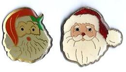 NOEL - N11 -  PERE NOEL -  2 Pin's - Verso : SM - Christmas