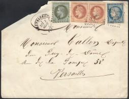 N°37 + 26 Paire + 25, Affranchissement Septembre 1871 Châteauroux - Versailles - 1863-1870 Napoléon III Lauré